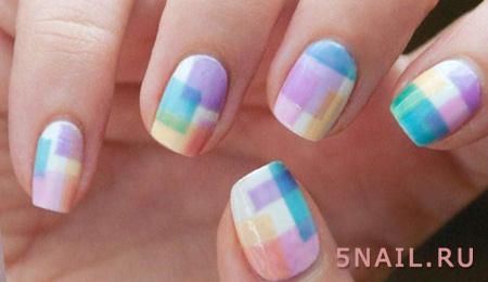 теплые оттенки на ногтях