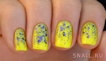 солнечные краски на ногтях