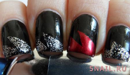короткие черные ногти