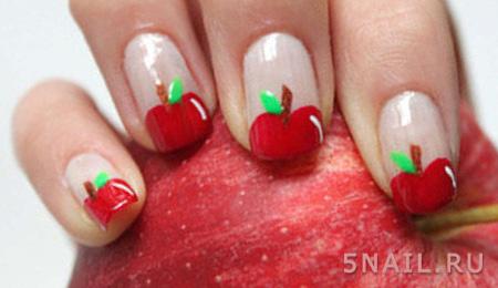 яблочные летние ногти