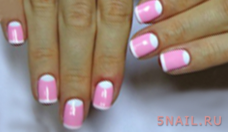 розово-белый френч