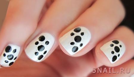 белые ногти короткие