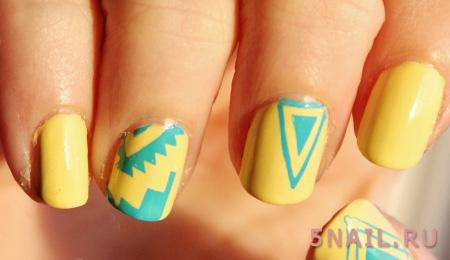 короткие яркие ногти