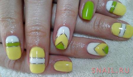 желтый лак с зеленью