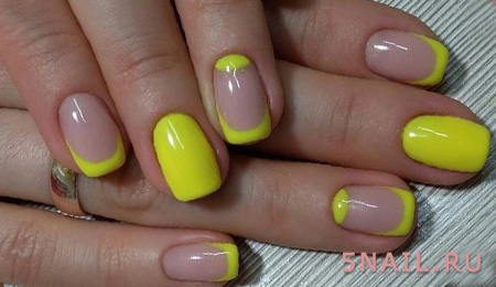 яркий желтый френч