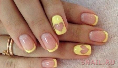 романтичный желтый нейл дизайн