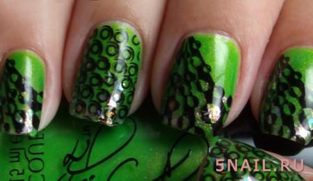 зеленый с черным шеллак