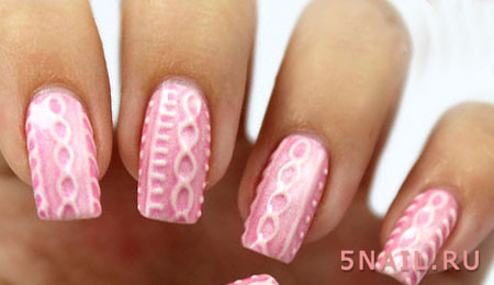 наращенные ногти вязка