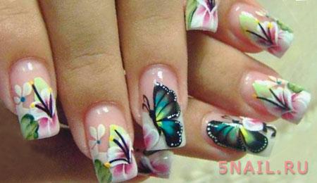 акриловая краска на ногтях