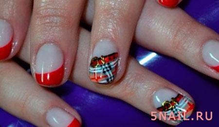 короткие ногти французские