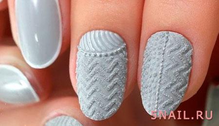 Гель лак вязаные ногти