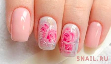 нейл дизайн с розами