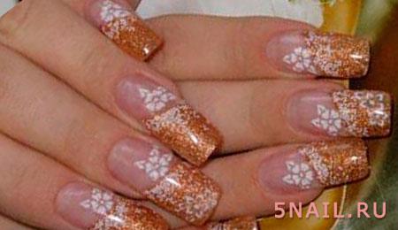 длинные ногти френч