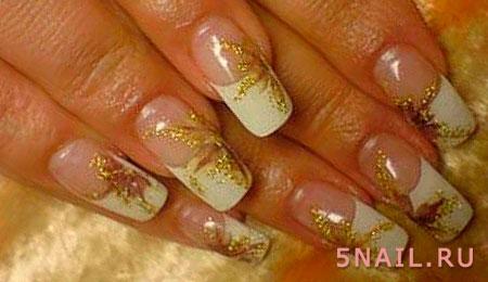 френч на наращенных ногтях