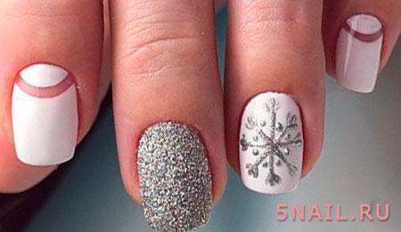 снежинка на ногте