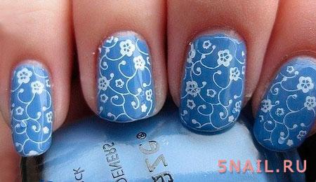 дизайн ногтей с росписью
