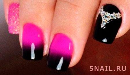 модное омбре на ногтях