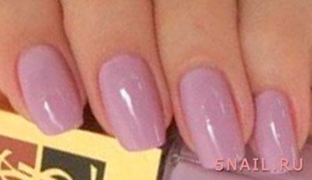 одноцветное покрытие ногтей