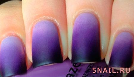фиолетовые ногти гель лаком