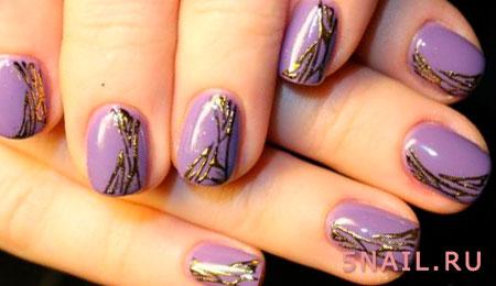 короткие ногти с литьем