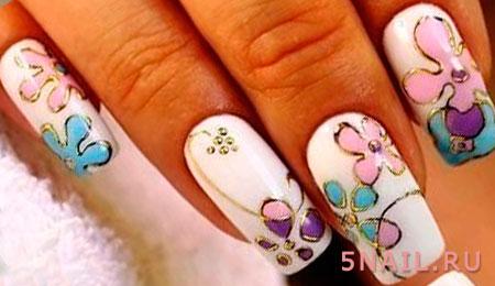 литье на длинных ногтях