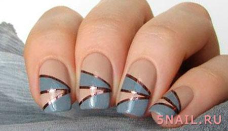 декорирование ногтей полосками