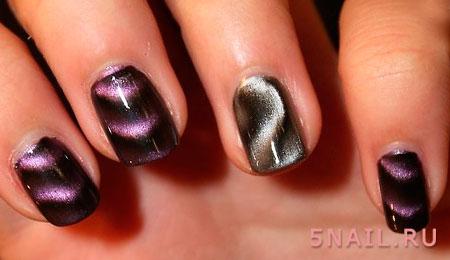 дизайн ногтей с магнитом