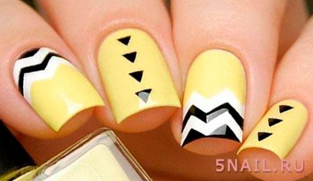 желтый шеллак с черными треугольниками