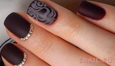 короткие ногти шеллак