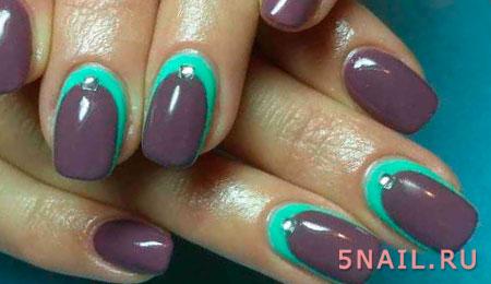 ногти серо зеленого цвета