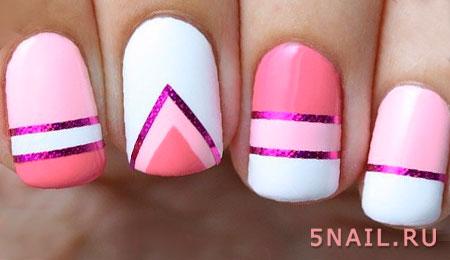 геометрия, полоски на ногтях