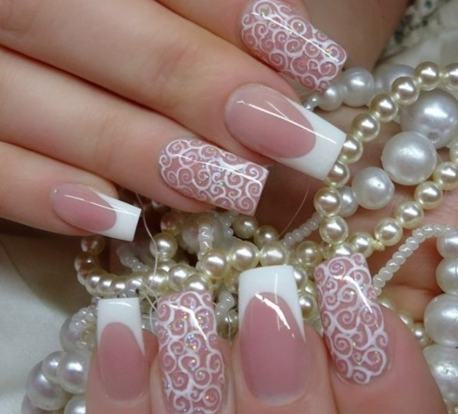 Наращивание ногтей на свадьбу с гарантией 7 дней!
