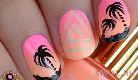 пляжный ногтевой дизайн