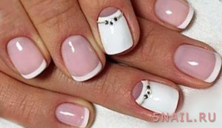 короткие ногти френч