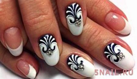сахарные ногти с черным