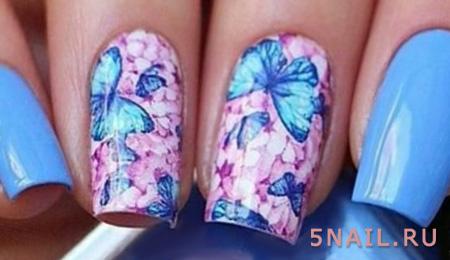 ногти с бабочками
