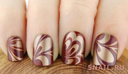 бордо краска на ногтях