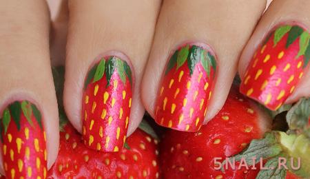 клубничные ногти