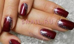 Бордовый цвет ногтей