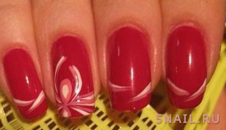 длинные красные ногти