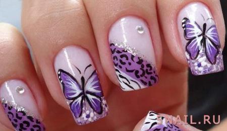 фиолетовый маникюр летом