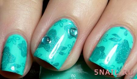 цветы на ногтях 2