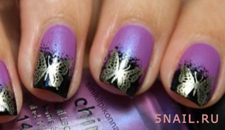 летний френч с бабочками