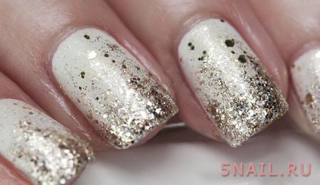 белые ногти на дискотеку