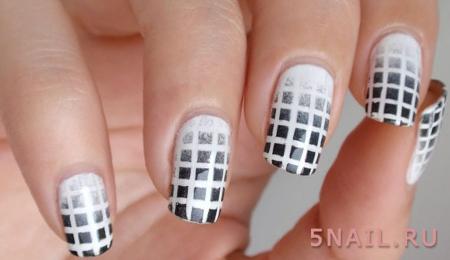 градиент ногти