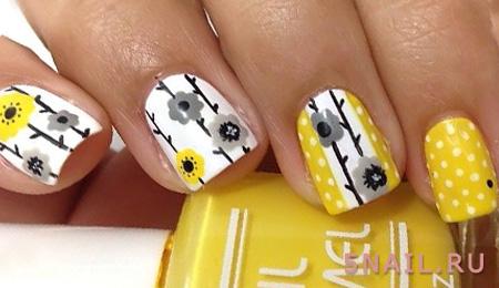 мягкий желтый лак на ногтях