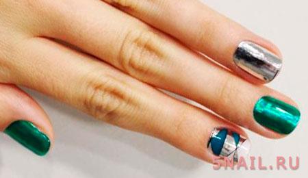 сияющий эффект на ногтях