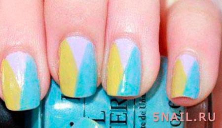 лак три цвета на ногтях