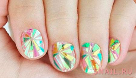мозаика на ногтях