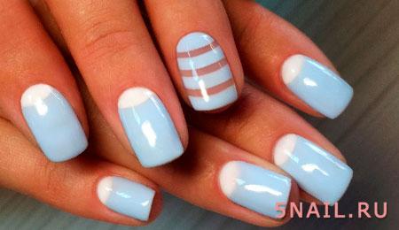 ногти небесного цвета